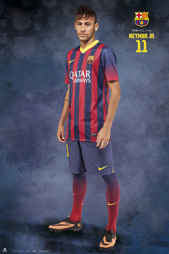 "Neymar Jr. ""Ready for Action"" FC Barcelona Official La Liga Soccer Action Poster - G.E. (Spain)"