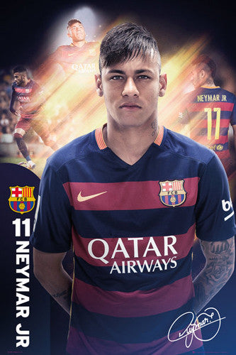 "Neymar Jr. ""The One"" FC Barcelona Signature Series Official Poster - GB Eye 2015/16"
