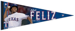 "Neftali Feliz ""Flamethrower"" Premium Felt Collector's Pennant (LE /2011)"