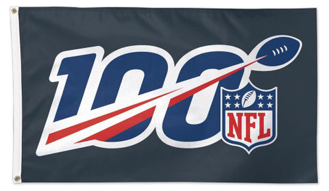 NFL Football 100th Anniversary Season Official Logo Deluxe-Edition 3'x5' Flag - Wincraft Inc.