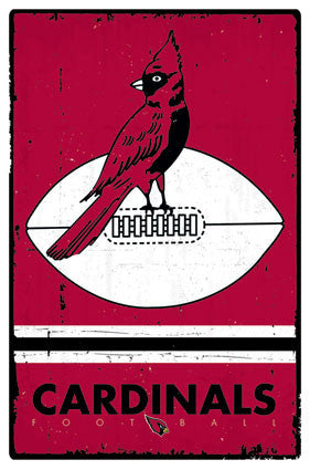 Chicago Cardinals (Arizona Cardinals) NFL Heritage Series 1947-59 Syle Logo Poster