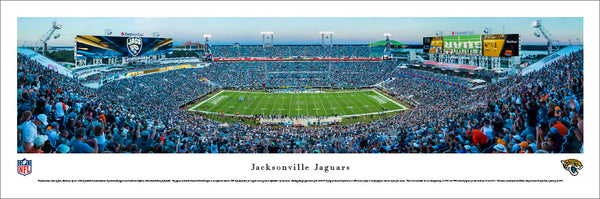 Jacksonville Jaguars Everbank Field Gameday Panoramic Poster Print - Blakeway Worldwide