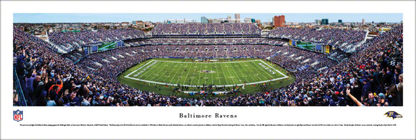 "Baltimore Ravens ""Touchdown!"" M&T Bank Stadium Gameday Panoramic Poster Print - Blakeway"