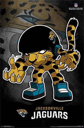 "Jacksonville Jaguars ""Rusher"" (NFL Rush Zone Character) Official Poster - Costacos Sports"