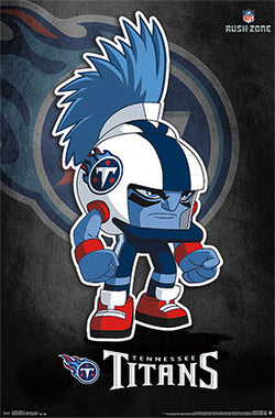 "Tennessee Titans ""Rusher"" (NFL Rush Zone Character) Official Poster - Costacos Sports"