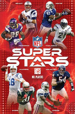 NFL Superstars 2008 Poster (Brady, Peterson, Manning, Urlacher +++) - Costacos Sports