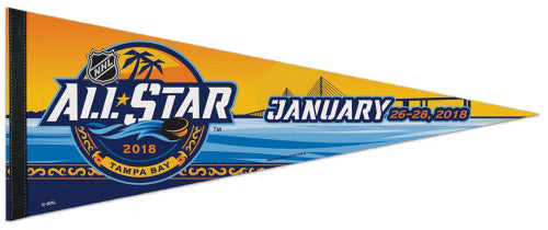 NHL All-Star Game 2018 (Tampa Bay) Official Premium Felt Collector's Pennant - Wincraft