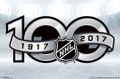 National Hockey League NHL 100th Anniversary Official Logo Poster - Trends International 2017
