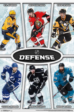 NHL Defensemen 2016-17 Poster (Subban, Karlsson, Letang, Hedman, Doughty, Burns) - Trends Int'l.