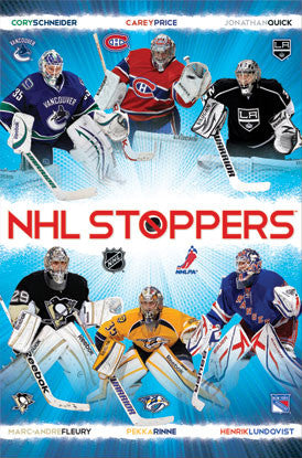 "NHL Goalies ""Stoppers"" Hockey Action Poster - Costacos 2013"