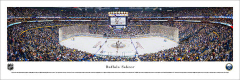 Buffalo Sabres First Niagara Center NHL Game Night Panoramic Poster - Blakeway