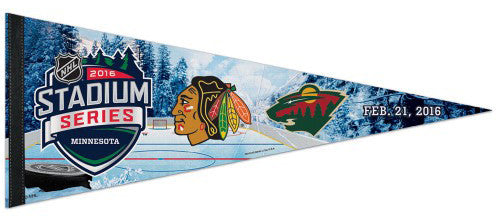 NHL Stadium Series 2016 Minneapolis (Blackhawks vs. Wild) Premium Felt Pennant - Wincraft