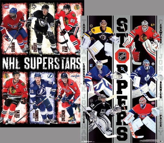 NHL Superstars and Stoppers 2-Poster Combo (12 Hockey Heroes) - Costacos 2014