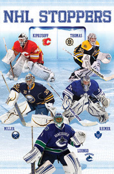 "Hockey Goalies ""NHL Stoppers 2011-12"" Poster - Costacos Sports"