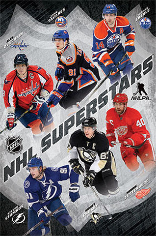 NHL Superstars 2013-14 Poster (6 Player Action) - Costacos Sports