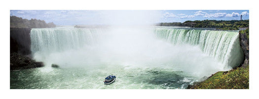 "Niagara Falls ""Horseshoe Falls Tour Boat Approach"" Panoramic Poster Print - Canadian Art Prints"