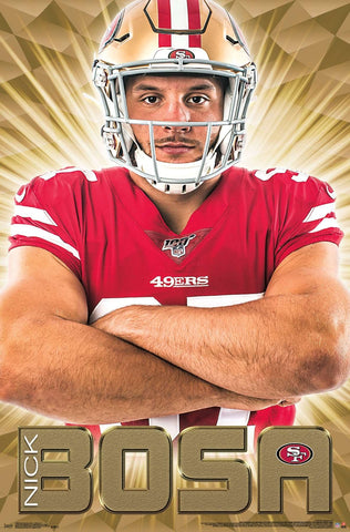 "Nick Bosa ""Intimidator"" San Francisco 49ers NFL Football Poster - Trends International"