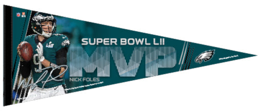 Nick Foles Philadelphia Eagles Super Bowl LII MVP (2018) Premium Felt Collector's Pennant - Wincraft