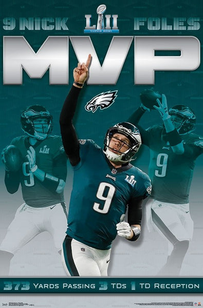 *SHIPS APPROX 2/16* Nick Foles Philadelphia Eagles Super Bowl LII MVP Official Poster - Trends International