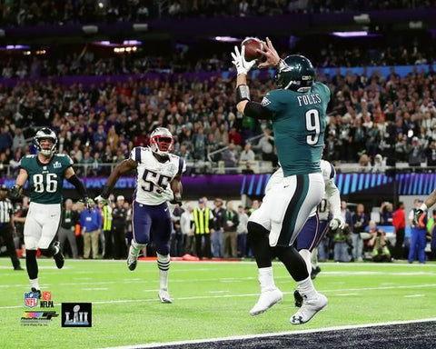 Nick Foles Touchdown Reception Super Bowl LII (2018) Philadelphia Eagles Premium Poster - Photofile 20x24
