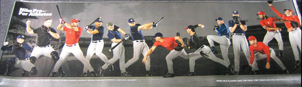 Nike Pro Baseball HUGE WALL-SIZED Poster - Nike Inc. 2005