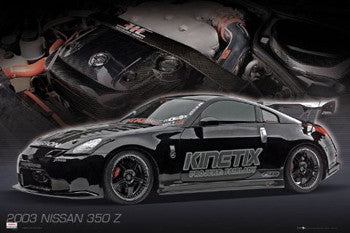 "Nissan 350Z (2003) ""Black Stealth"" Car Poster - GB Eye"