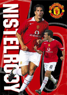 "Ruud Van Nistelrooy ""Action 10"" Manchester United Poster - GB Posters 2004"