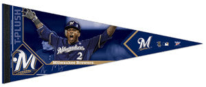 "Nyjer Morgan ""Signature"" Milwaukee Brewers Premium Felt Collector's Pennant (LE /2012)"