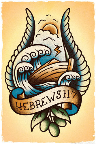 Noah's Ark Tatoo Poster (Hebrews 11:7) - Slingshot Publishing