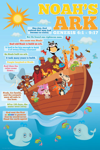 Noah's Ark for Kids Biblical Poster - Slingshot Publishing