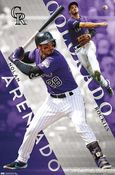 "Nolan Arenado ""Colorado Classic"" Colorado Rockies Official MLB Baseball Poster - Trends 2020"