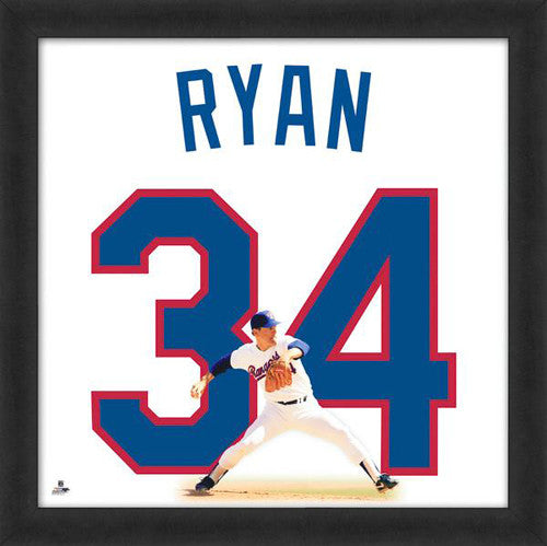 "Nolan Ryan ""Number 34"" Texas Rangers MLB FRAMED 20x20 UNIFRAME PRINT - Photofile"
