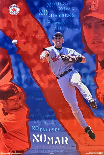 "Nomar Garciaparra ""No Excuses"" Boston Red Sox Poster - Costacos 2003"