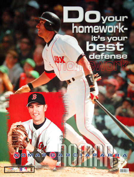 "Nomar Garciaparra ""Homework"" Boston Red Sox Poster - Photo File 1999"