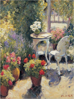 """Table and Chairs in Garden"" by Edward Noott - Eurographics"