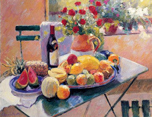Still Life (Fruit and Flowers) by Edward Noott Poster Print - Eurographics Inc.