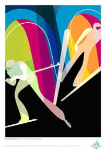 Torino 2006 Nordic Combined Official Poster - Bolaffi S.p.A.