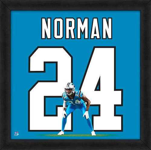 "Josh Norman ""Number 24"" Carolina Panthers FRAMED 20x20 UNIFRAME PRINT - Photofile"