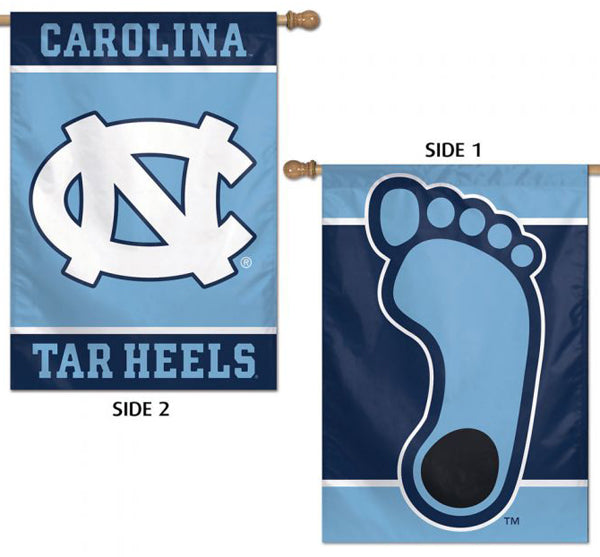 North Carolina Tar Heels Official NCAA Sports 2-Sided Vertical Flag Wall Banner - Wincraft Inc.