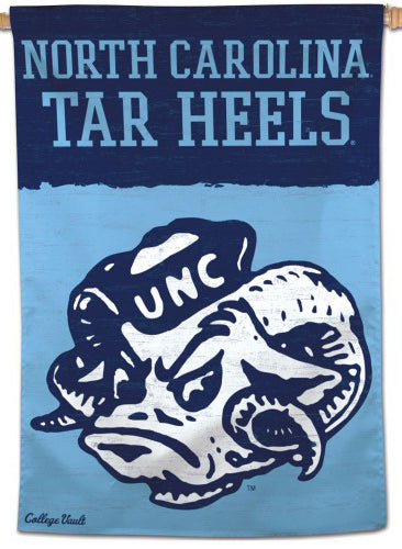 North Carolina Tar Heels College Vault 1980s-Style Official NCAA Premium 28x40 Wall Banner - Wincraft Inc.
