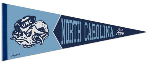 "North Carolina Tar Heels ""Est. 1789"" Retro College Vault Style Premium Felt Collector's Pennant - Wincraft Inc."