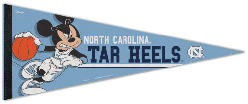 "North Carolina Tar Heels Basketball ""Mickey Mouse Point Guard"" Official Disney NBA Premium Felt Collector's Pennant - Wincraft Inc."