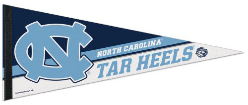 North Carolina Tar Heels Official NCAA Team Logo Premium Felt Collector's Pennant - Wincraft Inc.