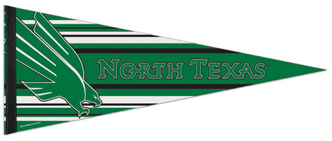 University of North Texas Mean Green NCAA Team Logo-Style Premium Felt Collector's Pennant - Wincraft Inc.