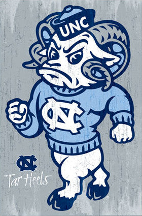 "University of North Carolina Tar Heels ""Rameses"" Official NCAA Logo Poster - Costacos"