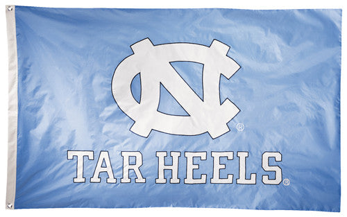 North Carolina Tar Heels Official NCAA Premium Nylon Applique 3'x5' Flag - BSI Products Inc.