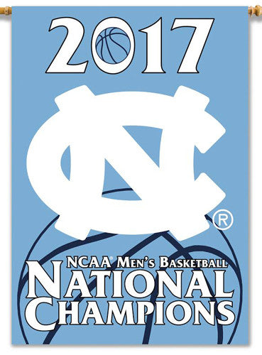 North Carolina Tar Heels 2017 NCAA Men's Basketball CHAMPIONS 28x40 BANNER