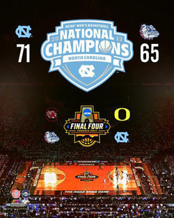 North Carolina Tar Heels 2017 NCAA National Basketball Champions Premium Poster - Photofile 16x20