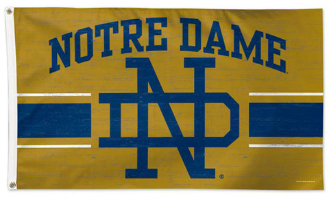 Notre Dame Fighting Irish Retro 1950s-Style College Vault Collection NCAA Deluxe-Edition 3'x5' Flag