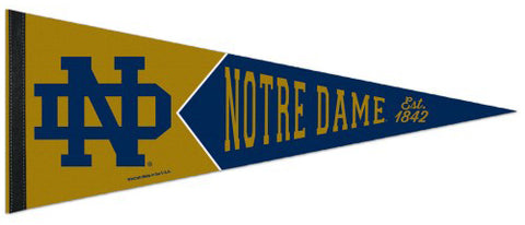Notre Dame Fighting Irish College Vault 1950s-Style Official NCAA Team Logo Premium Felt Pennant - Wincraft Inc.